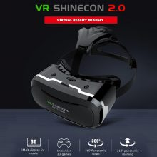 VR Shinecon II 2.0 Virtual Reality Headset Glasses for Mobile Phone 360º Video Movie for 4.7-6.0″ Smartphone with FREE Remote Control Gamepad and FREE Shipping