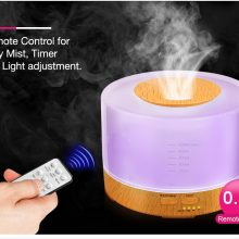 500ml Remote Control Aroma Essential Oil Diffuser Ultrasonic Air Humidifier with 4 Timer Settings 7 Color Changing LED Lamp – FREE SHIPPING