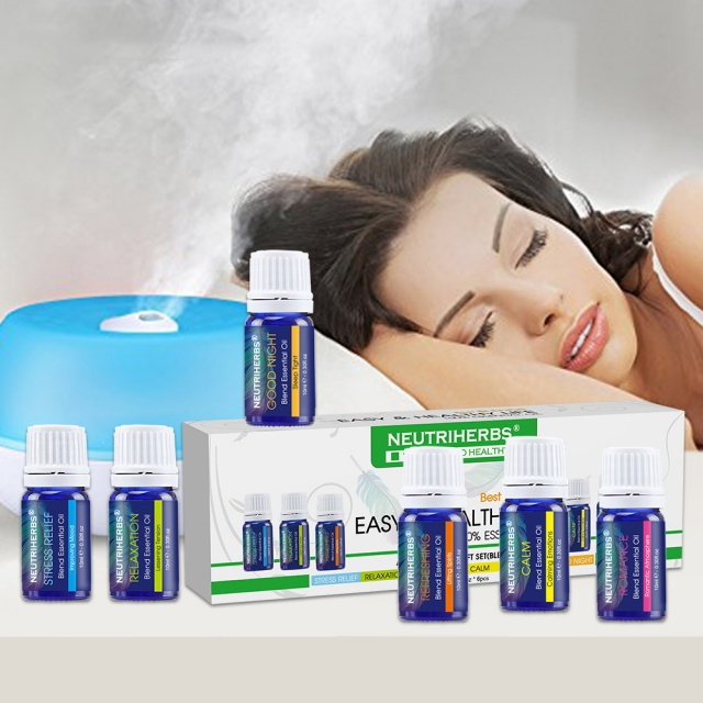 100% Pure Compound Essential Oil 6 pcs Blend Set Fragrances for Ultrasonic Diffuser Bath & Body Massage  – FREE SHIPPING