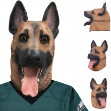 Creepy Dog Mask Latex German Sheppard Breathable Philadelphia Eagles Underdog Canine Masks for SUPER BOWL LII – FREE SHIPPING