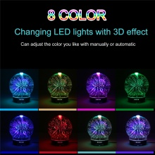 3D Colorful Aroma Essential Oil Diffuser 100ml Ultrasonic Cool Mist Humidifier with 8 Color LED Aromatic Night Mood Lights – FREE SHIPPING