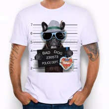 French Bulldog Police Dept. Men's T Shirt