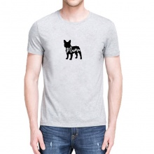 French Bulldog Letter Print T Shirt
