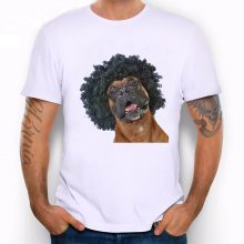 Men's Funny Bulldog Print T Shirt