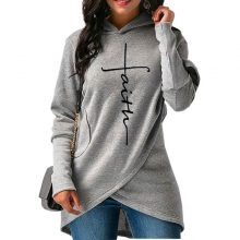 Women's Casual Long Sleeve Faith Hoodie S-4XL (6 colors)