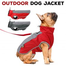 Outdoor Dog Jacket with Reflective Trim Med – XXXL (2 colors)